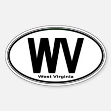Cute Black west virginia Decal