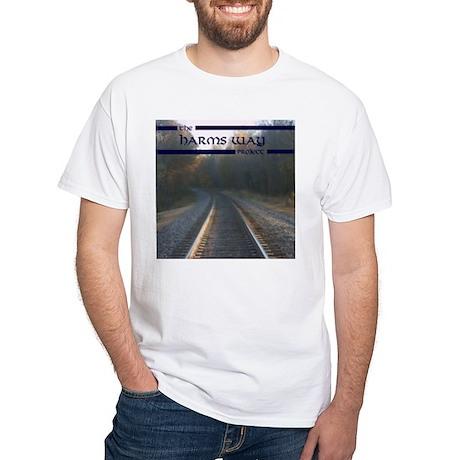 Harms Way Cover.jpg White T-Shirt