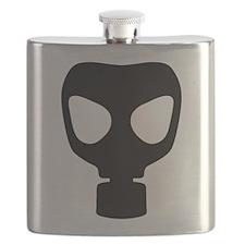 Black Gas Mask Flask