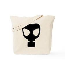Black Gas Mask Tote Bag