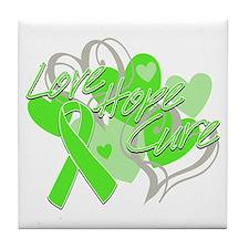 Lymphoma Love Hope Cure Tile Coaster