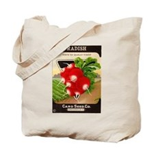 Antique Seed Packet Art Radish Tote Bag
