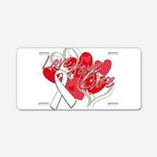 Lung Cancer Love Hope Cure Aluminum License Plate
