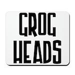 GrogHeads Text Logo Mousepad