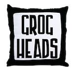 GrogHeads Text Logo Throw Pillow