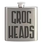GrogHeads Text Logo Flask