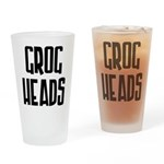 GrogHeads Text Logo Drinking Glass