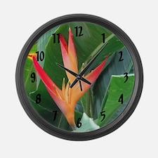 Bird of Paradise - Large Wall Clock