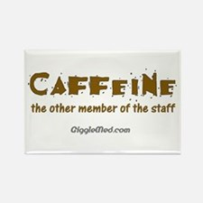 Caffeine On Staff Rectangle Magnet