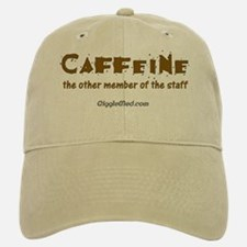 Caffeine On Staff Baseball Baseball Cap