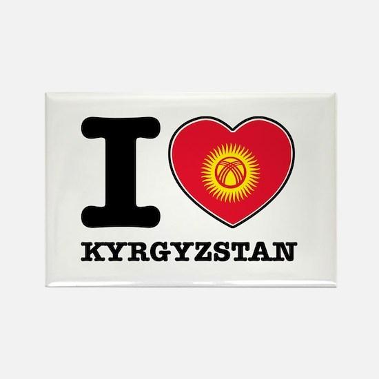 I heart Kyrgyzstan Rectangle Magnet