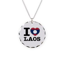 I heart Laos Necklace
