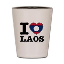 I heart Laos Shot Glass