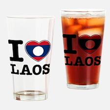 I heart Laos Drinking Glass