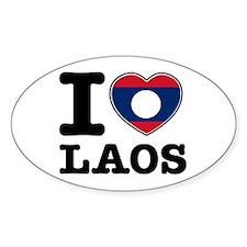 I heart Laos Decal