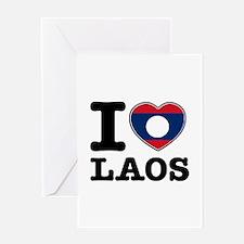 I heart Laos Greeting Card