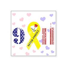 "September 11 Anniversary Square Sticker 3"" x 3"""