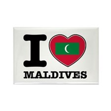I heart Maldives Rectangle Magnet