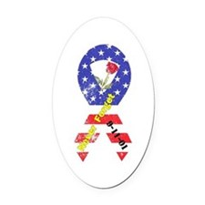 September 11 Anniversary Oval Car Magnet