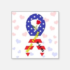 "September 11 Anniversary Square Sticker 3"" x 3"""