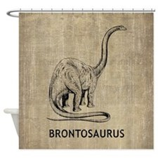 Vintage Brontosaurus Shower Curtain