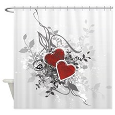 Valentine Hearts Shower Curtain