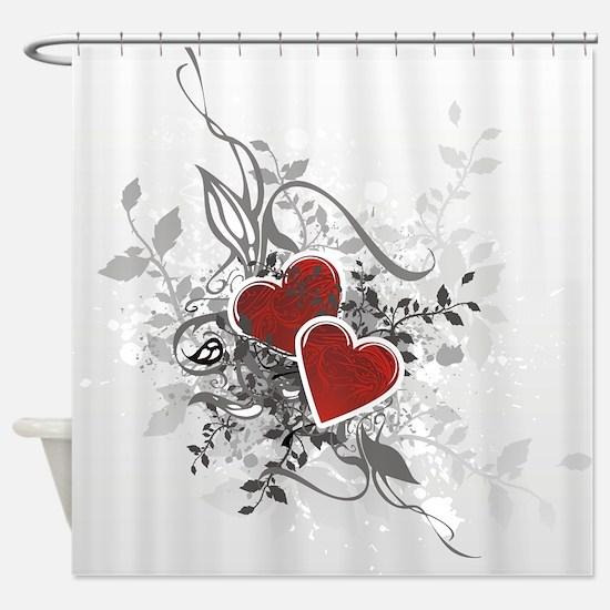 Valentine Hearts Shower Curtain