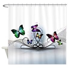 Colorful Butterflies Shower Curtain