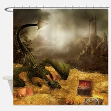 Dragon Treasure Shower Curtain