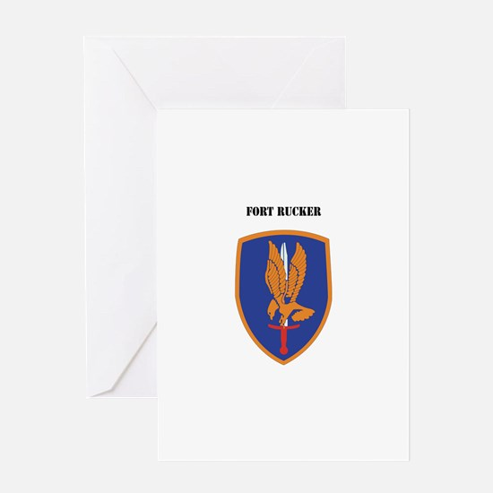 Fort Rucker with Text Greeting Card