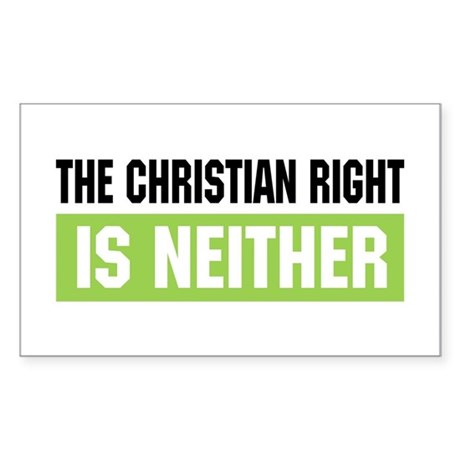 Christian Right Rectangle Sticker
