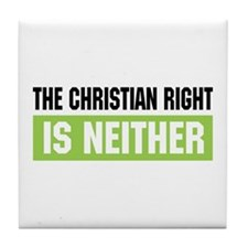 Christian Right Tile Coaster