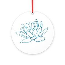 LITTLE BLUE LOTUS Ornament (Round)