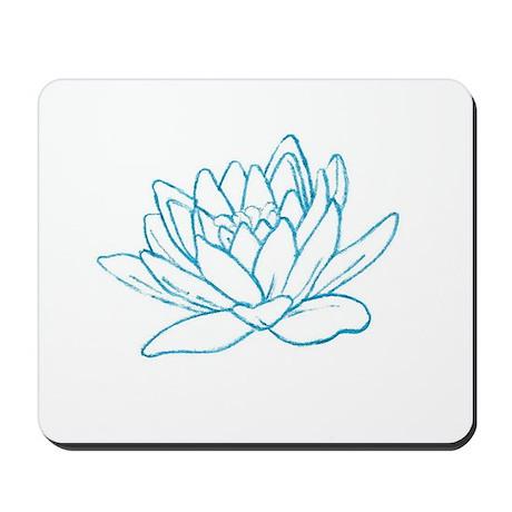 LITTLE BLUE LOTUS Mousepad
