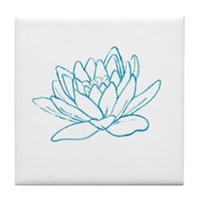 LITTLE BLUE LOTUS Tile Coaster