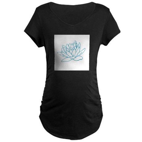 LITTLE BLUE LOTUS Maternity Dark T-Shirt