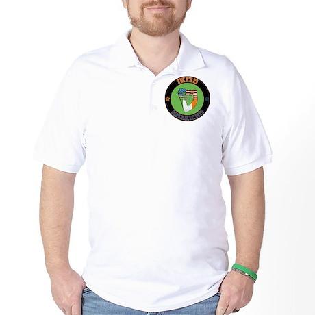 Irish American Harp Golf Shirt