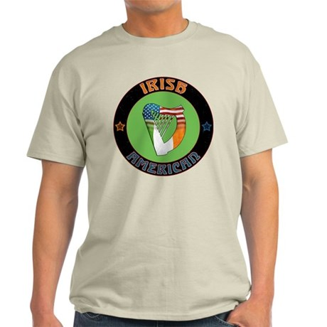 Irish American Harp Light T-Shirt