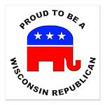 Wisconsin Republican Pride Square Car Magnet 3