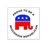 Wisconsin Republican Pride Square Sticker 3
