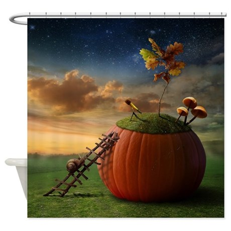 Surreal Stargazer Snail Shower Curtain