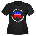 Wisconsin Republican Pride Women's Plus Size V-Nec