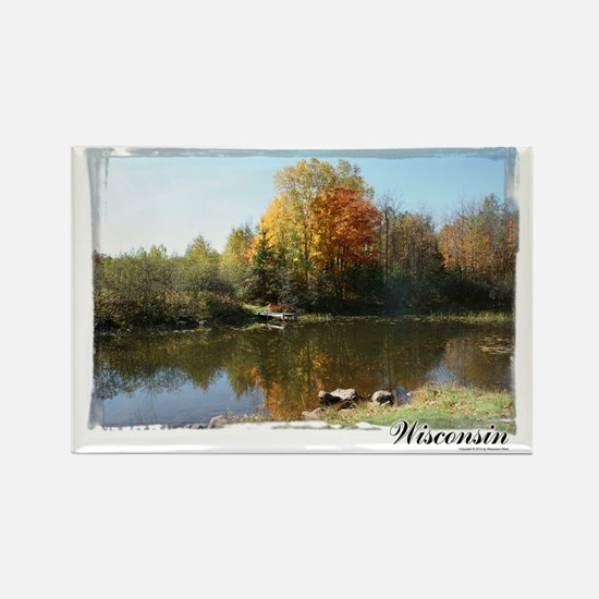 Autumn Pond Rectangle Magnet