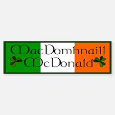McDonald Name (Irish & English) Bumper Bumper Bumper Sticker