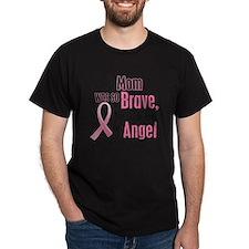 - God Made My Mom an Angel Breast Cancer T-Shirt