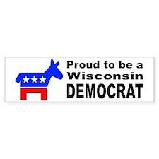 Wisconsin Democrat Pride Bumper Sticker