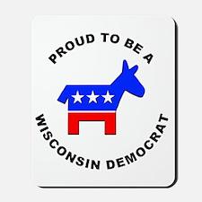 Wisconsin Democrat Pride Mousepad