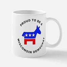 Wisconsin Democrat Pride Mug