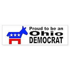 Ohio Democrat Pride Bumper Sticker