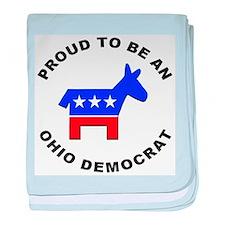 Ohio Democrat Pride baby blanket